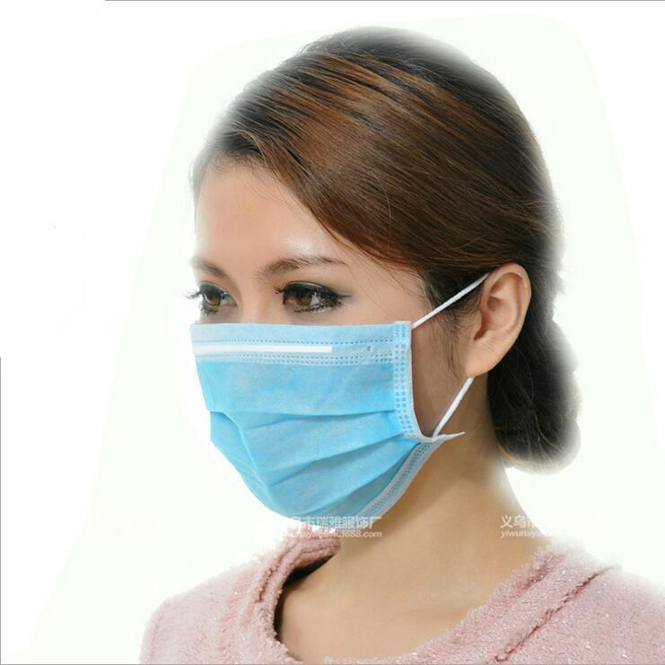 Mascarilla Non-woven Flu Anti-dust Anti Mask Virus Antipolvo 10pcs Disposable Masks Mouth-muffle Mouth Medical Face