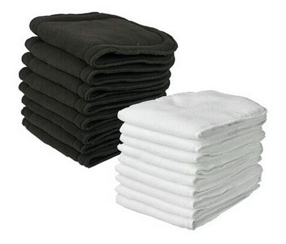 Hot Washable Baby Cloth Diaper Microfiber Bamboo Charcoal Insert