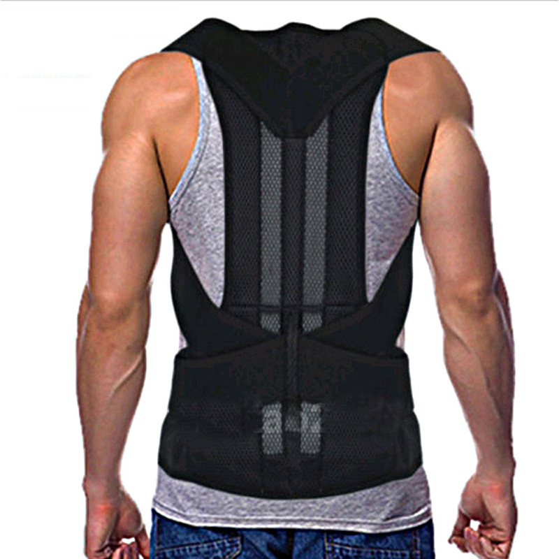 Men\u0027s Back Posture Corrector Braces Belts Lumbar Support Belt
