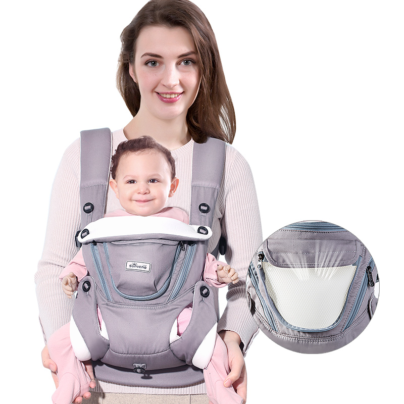 0222a76d06f Ergonomic Baby Carrier Infant Baby Breathable Sling Front Facing Kangaroo  Baby Wrap Carrier for Baby Travel ...