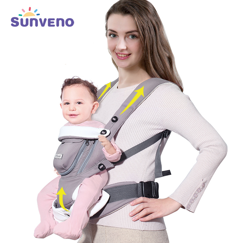 Sunveno Ergonomic Baby Carrier Breathable Front Facing Infant Baby