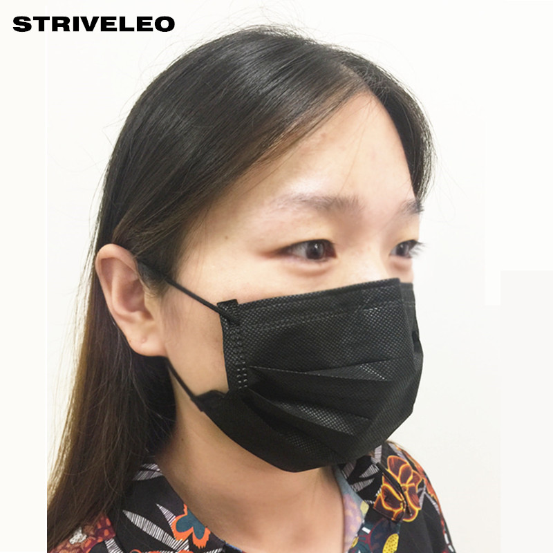 disposable medical mask black