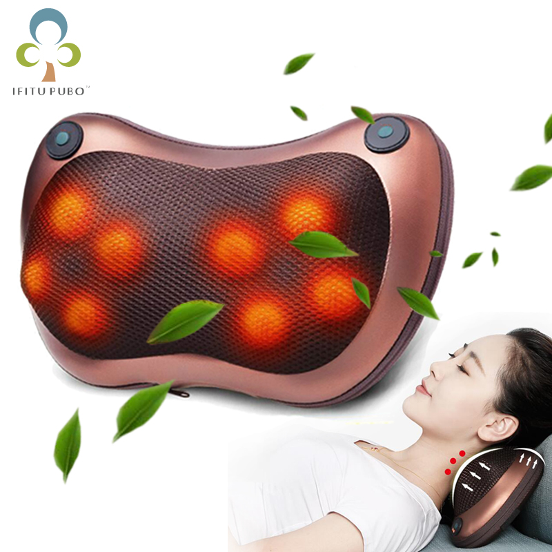 Electric Infrared Heating Kneading Neck Shoulder Back Waist Body Spa Massage Pillow Car Chair Shiatsu Massager Relaxation Device Beauty & Health