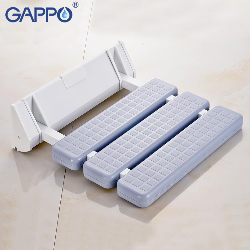 Bathroom Fixtures Gappo Wall Mounted Shower Seat Shower Folding Seat For Elderly Toilet Bath Stool Bathroom Seats For Seniors And Elders Wall Mounted Shower Seats