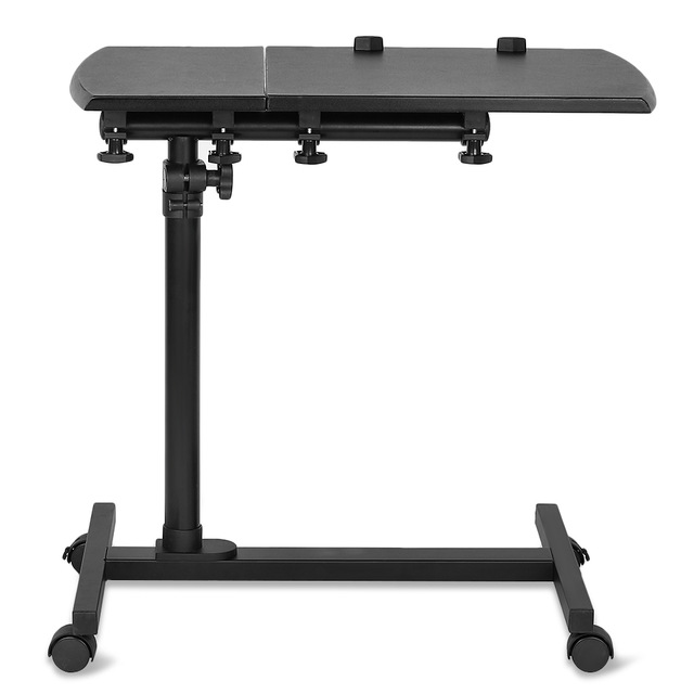hot sales f0031 573b8 KQ - YD03 Laptop Rolling Cart Desk Adjustable Height Sofa Bedside Table  with Wheels 360 degree Folding Portable Computer Desk