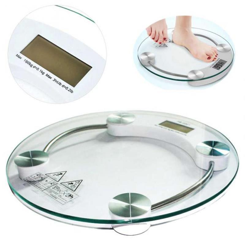 Round Bathroom Body Scales Electronic LCD Display Digital ...